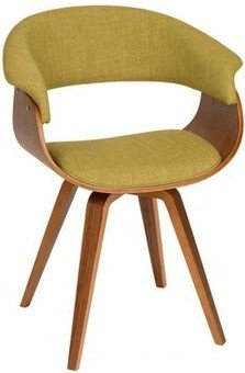 Laura Modern Chair Green And Walnut