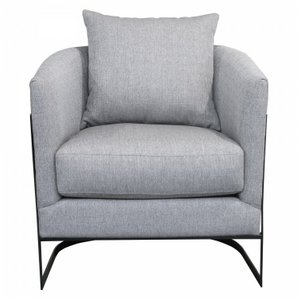 Omar Contemporary Accent Chair Gray