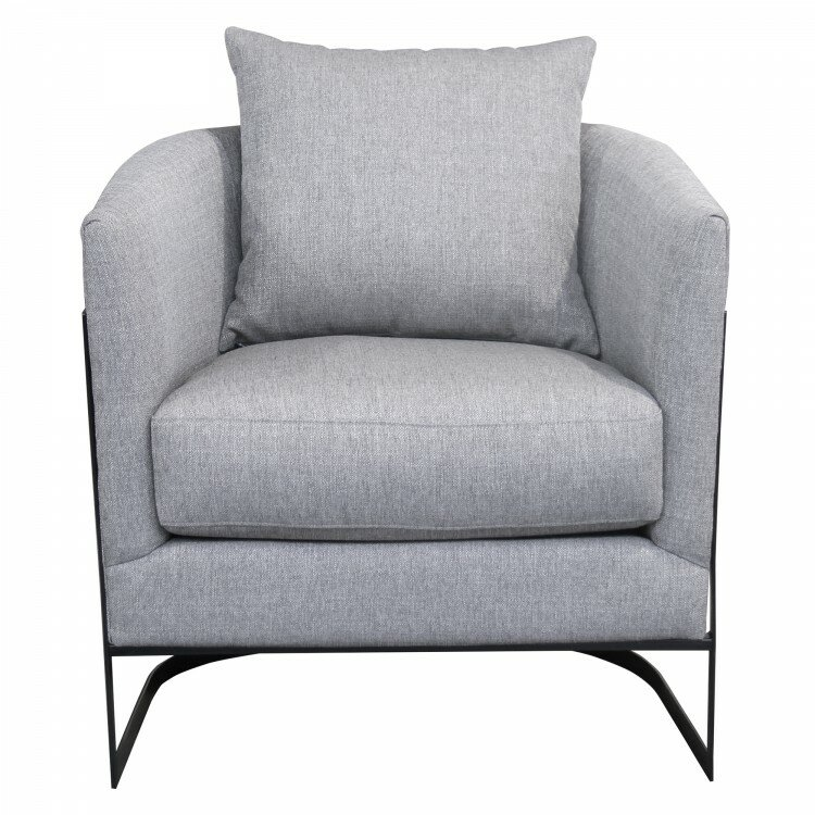 Omar Contemporary Accent Chair Gray  sc 1 st  CasaOne : contemporary accent chair - lorbestier.org