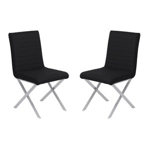 Vicky Contemporary Dining Chair  Black