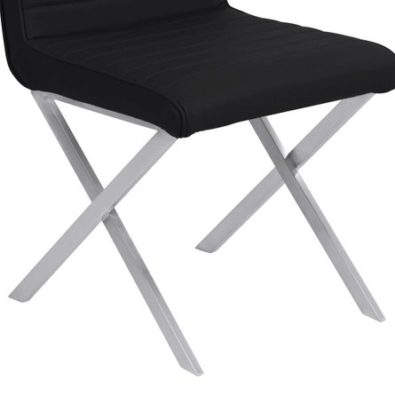 Vicky Contemporary Dining Chair Black (Set Of 2)