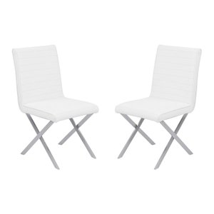 Bill Contemporary Dining Chair White