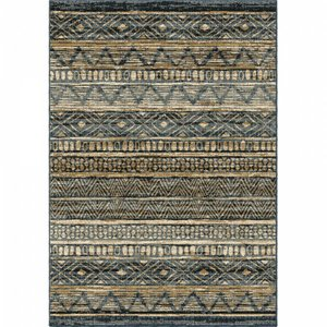 Togo Contemporary (5'X8') Area Rug In Blue/Gold