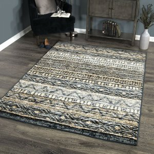Togo Contemporary (8'X10') Area Rug In Blue/Gold