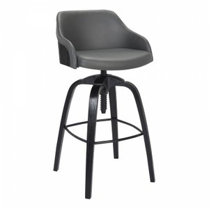 Julian Contemporary Adjustable Barstool Gray