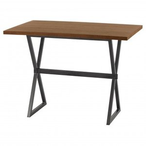 Virginie Contemporary Rectangular Bar Table Walnut