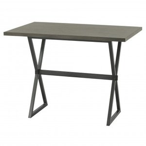 Virginie Contemporary Rectangular Bar Table Gray