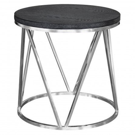 Vulpecula Contemporary End Table Gray