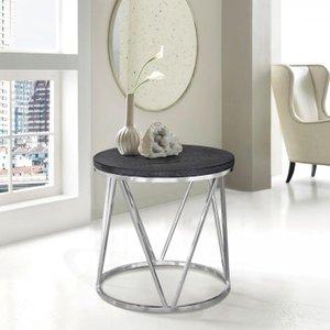 Vulpecula Contemporary End Table Gray