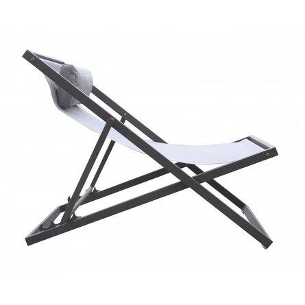Ursa Major Outdoor Patio Aluminum Deck Chair Gray