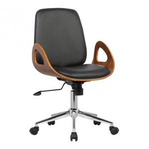 Sagitta Mid-Century Office Chair Black