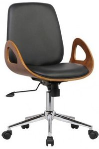 Sagitta Mid-Century Office Chair Black