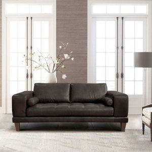 Sculptor Contemporary Loveseat Brown