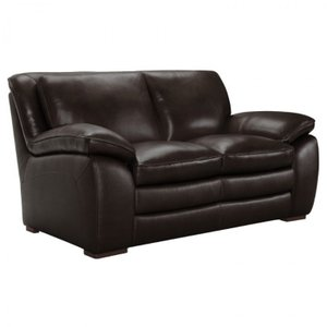 Telescopium Contemporary Loveseat Dark Brown
