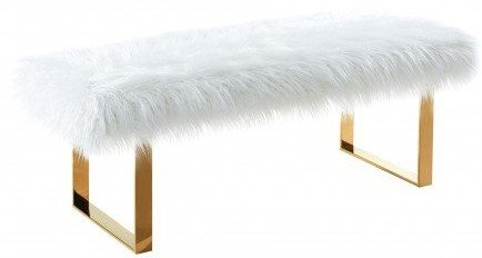 Asellus Secondus Contemporary Bench White