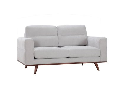Leonardo Loveseat Light Gray