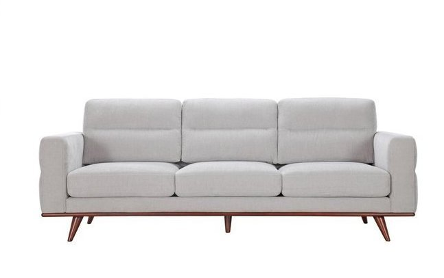 Leonardo Sofa Light Gray In La Sofas Casaone