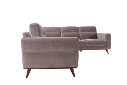 Leonardo Sectional Sofa LAF Gray