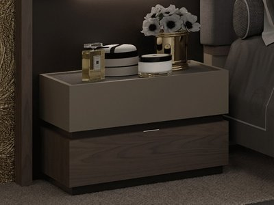 Leo Nightstand Brown And Beige