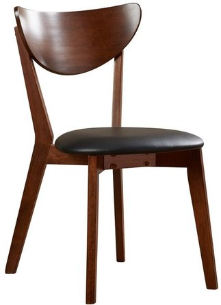 Sarin Side Chair Dark Walnut And Black(Set of 2)