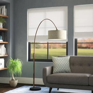"Maui 81"" Arched Floor Lamp Beige"
