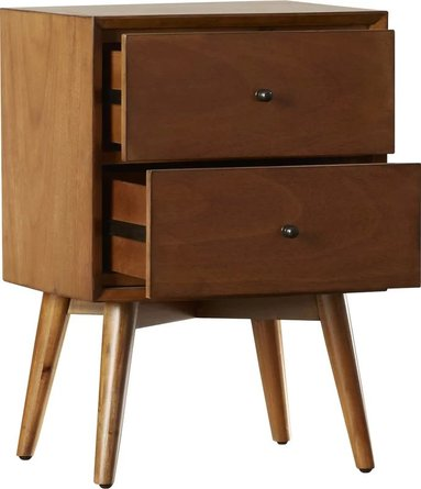 Prue 2 Drawer Nightstand Acorn