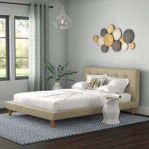 Margen Upholstered Platform King Bed Gray