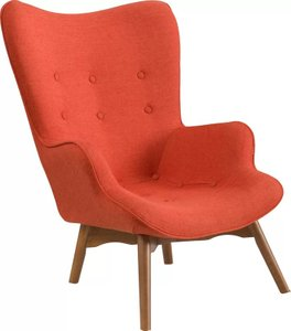 Ancha Vista Mid-Century Lounge Chair Orange