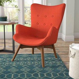 Ancha Vista Mid-Century Lounge Chair Orange