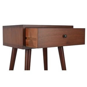 Aberdeen End Table With Storage Brown