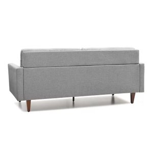 Yelada Sandy Tufted Sofa Gray