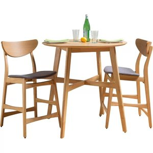 Denver Dining Set For 2 Gray