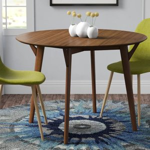 Furud Round Dining Table Walnut