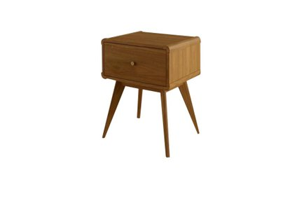 Castor 1 Drawer Nightstand Light Oak