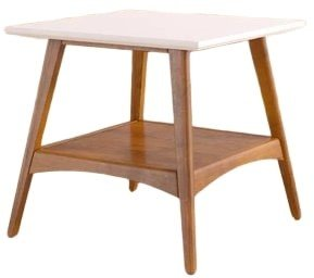 Stubb End Table White