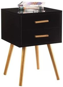 Percy End Table With Storage Black