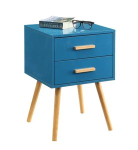 Percy End Table With Storage Blue