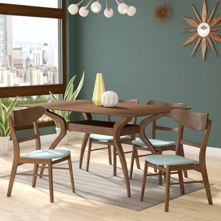 Dabih Dining Set For 4 Walnut