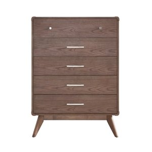 Jena 5 Drawer Dresser Walnut
