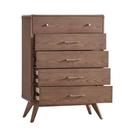 Jena 5 Drawer Dresser Walnut