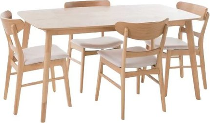 Cape Dining Set For 4 Natural