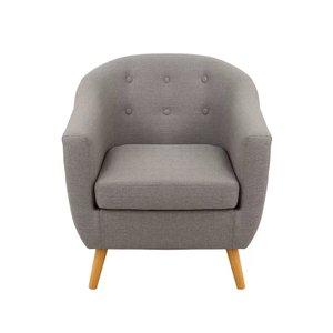 Hesler Barrel Chair Charcoal Gray