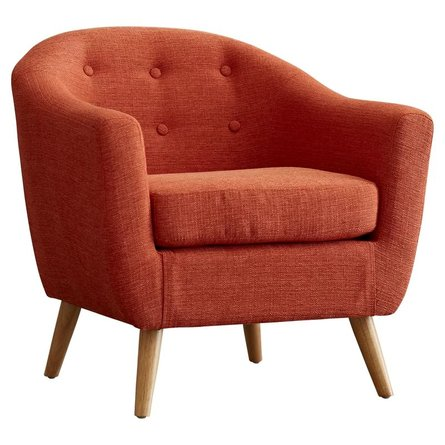 Hesler Barrel Chair Orange