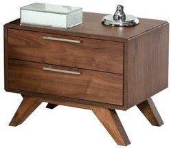 Kent 2 Drawer Nightstand Walnut