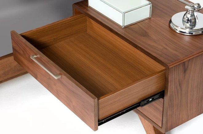 Kent 2 Drawer Nightstand Walnut