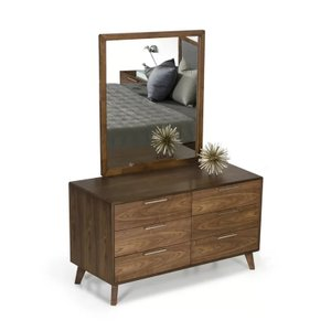 Kent 6 Drawer Double Dresser Walnut