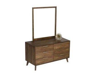 Kent 6 Drawer Double Dresser Walnut