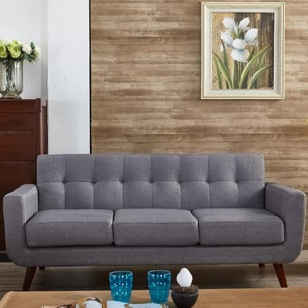 Silva Square Arms Sofa Gray
