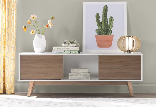 """Baham TV Stand for TVs up to 60"""" Dark Brown"""