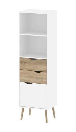 Alcor Standard Bookcase White